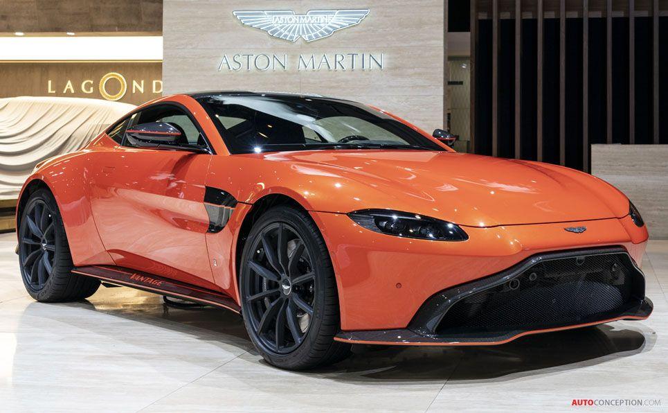 Aston Martin Vantage At The 2019 Geneva Motor Show Aston Martin Aston Martin Vantage Aston Martin Cars