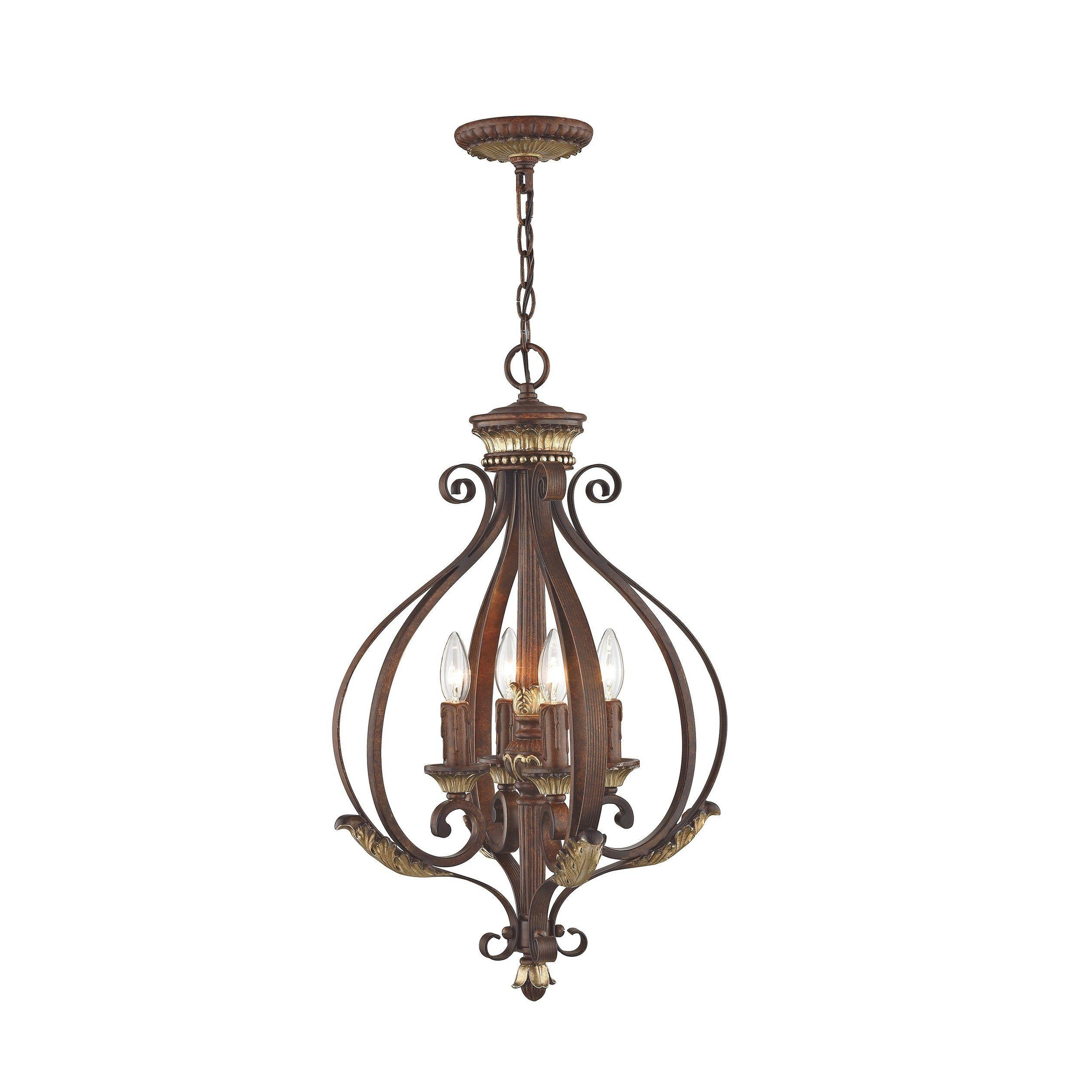 Livex Lighting Villa Verona 4 Light Verona Bronze Aged