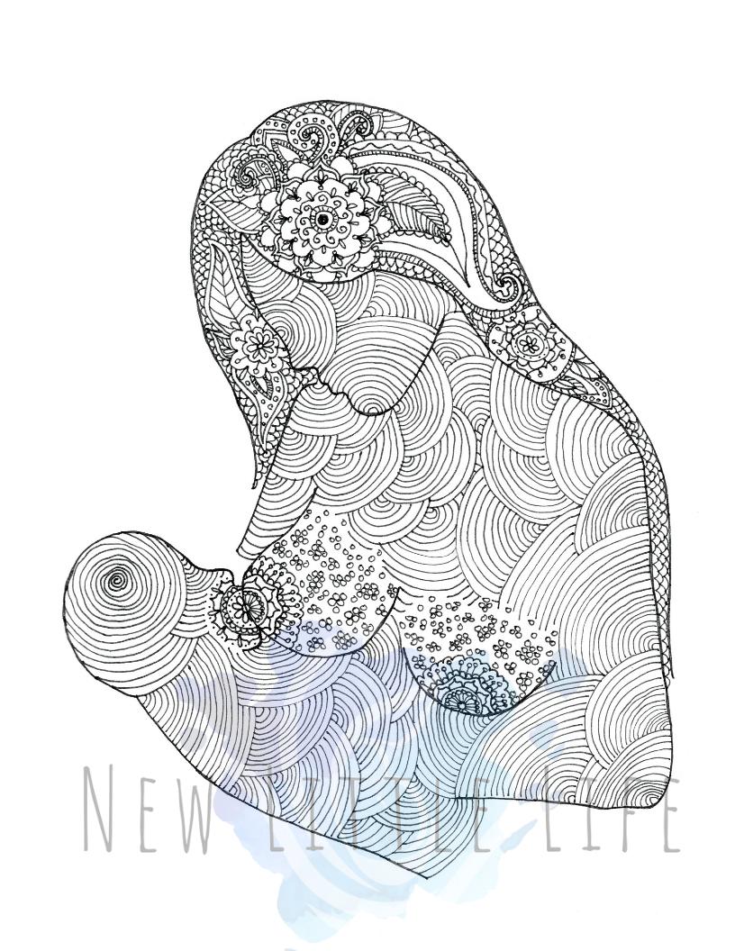 Breastfeeding Coloring Page Digital Download Birth Art Etsy Birth Art Coloring Books Coloring Pages