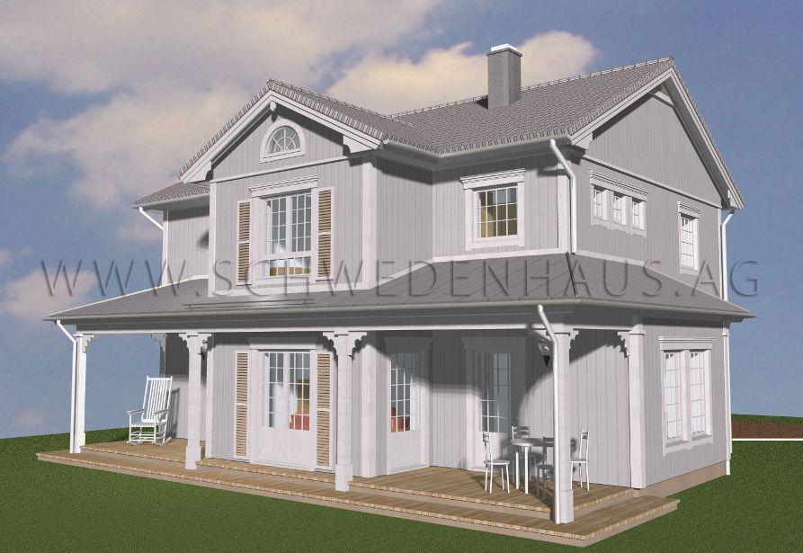 Schwedenhaus Lexington Im New England Stil Mit Doppgelgarage
