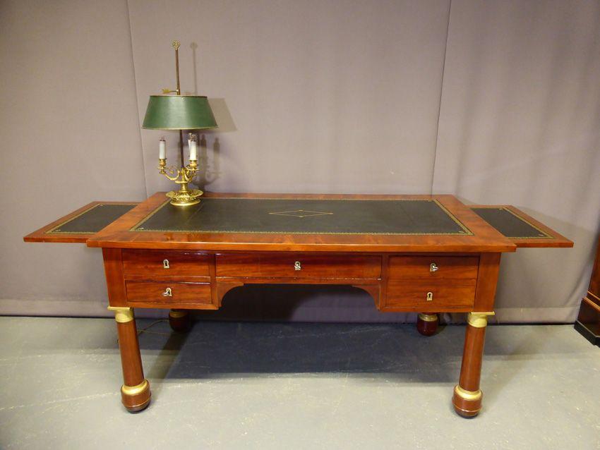 Bureau Empire Philippe Cote Antiquites Proantic Bureau Mobilier De Salon Tirette