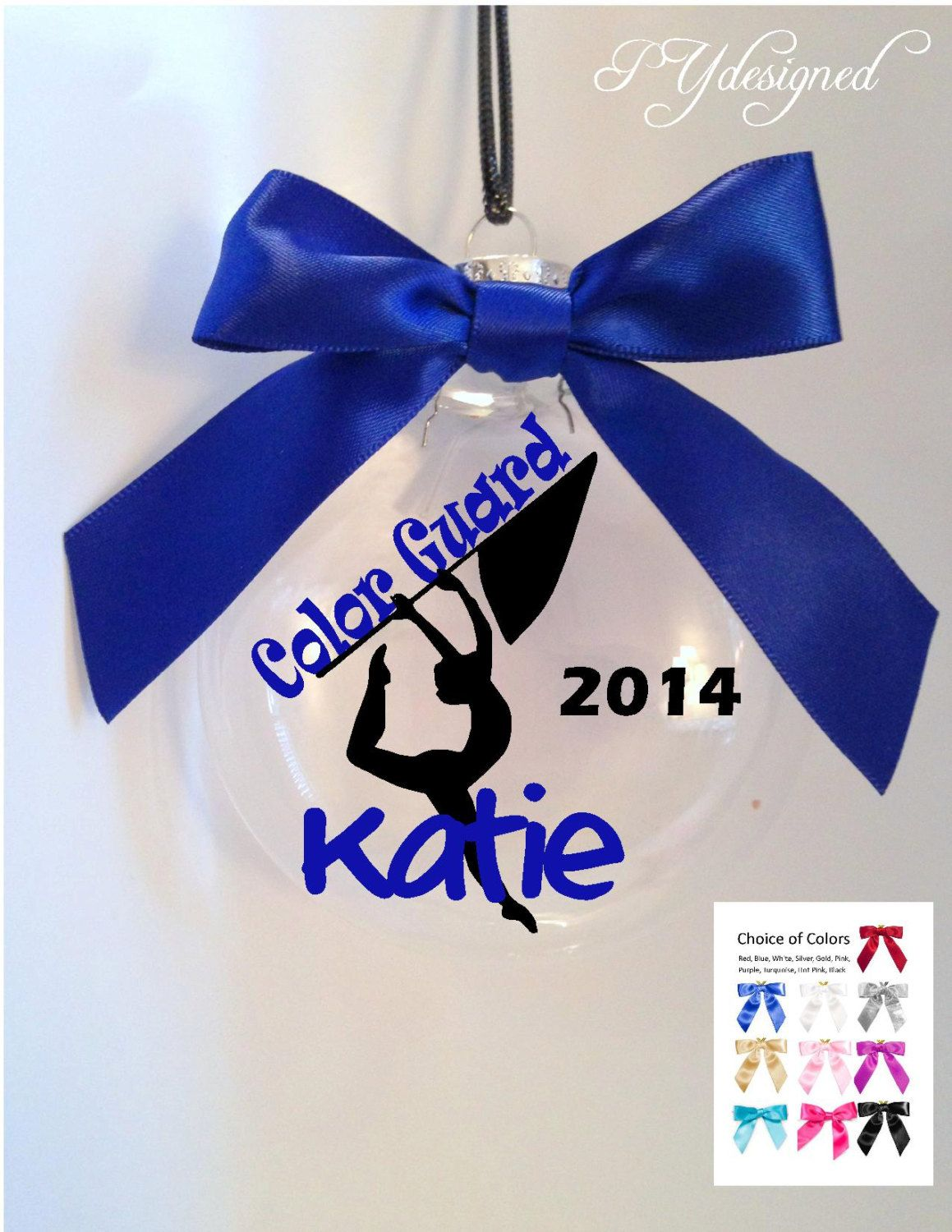 Color Guard Christmas Ornament Includes Gift Box By Pydesigned On Etsy Color Guard Color Guard Uniforms Color Guard Shirts