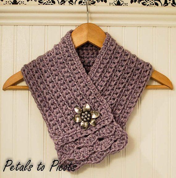 Crochet Pattern - Pretty Cowl / Scarf / Scarflette - Instant ...
