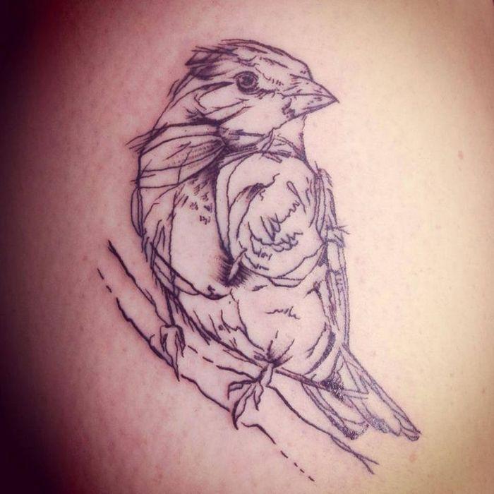 http://tattooideas247.com/sparrow-sketch-tattoo/ Sparrow Sketch Tattoo #BlackTattoo, #Drawing, #Sketch, #Sparrow
