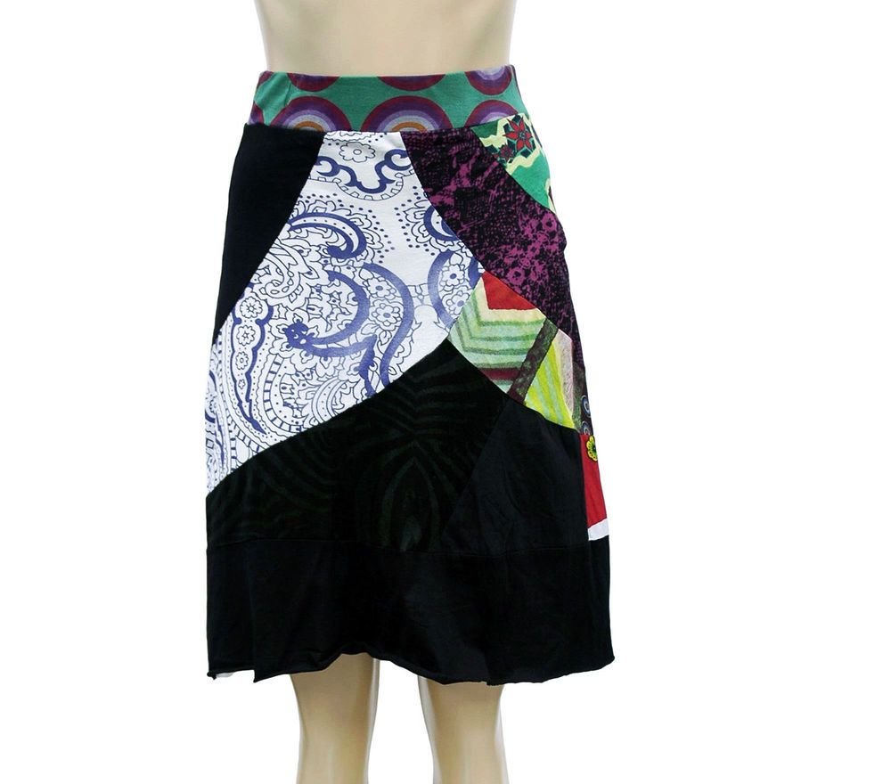 edd32b4fb8 2001 New Desigual Floral Printed Black Cotton Skirt Extra Small XS #fashion  #clothing #shoes #accessories #womensclothing #skirts (ebay link)