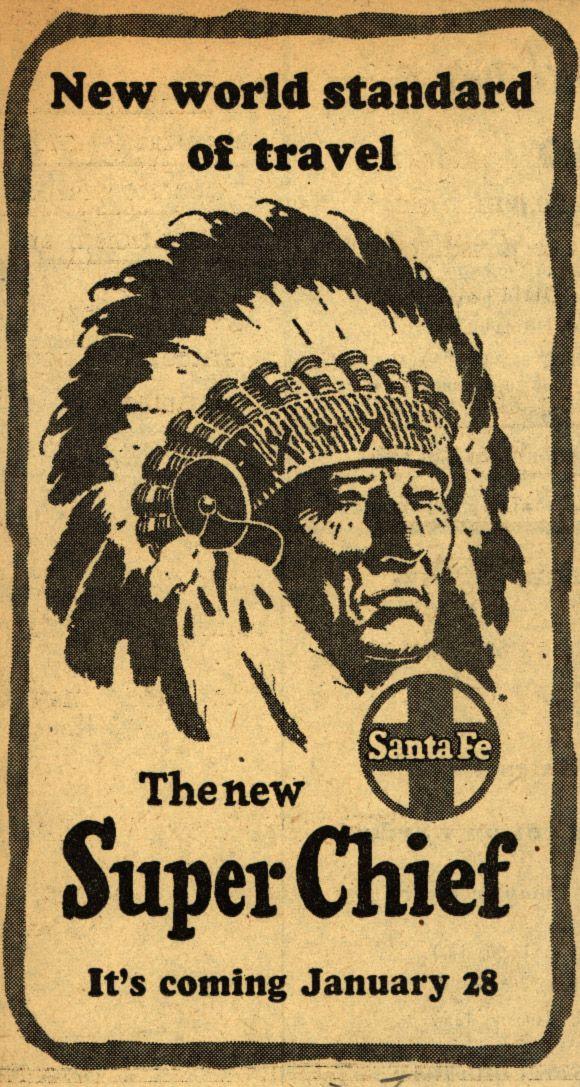 The New Super Chief | Santa Fe Railway 1950's Poster