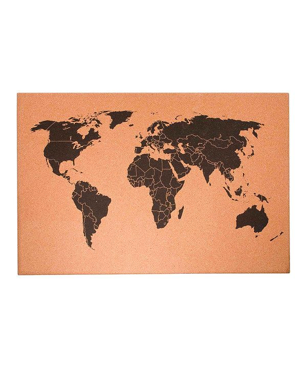 Look at this world map cork board on zulily today studyden look at this world map cork board on zulily today gumiabroncs Image collections