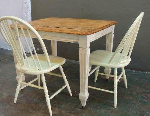 Mesa de campo roble comedor antigua laqueada patinada - Mesas de campo ...