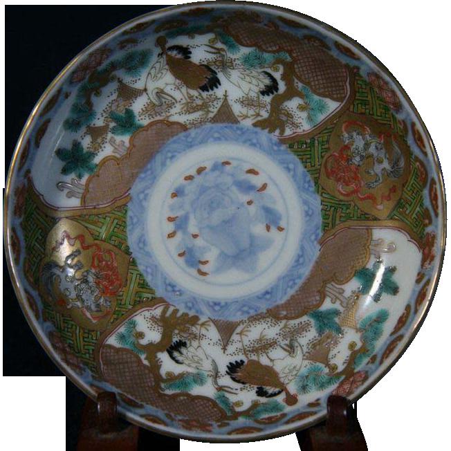 Japanese Antique Edo Period Ko- Imari Pair of Porcelain Plates of Cranes and Flowers  sc 1 st  Pinterest & Japanese Antique Edo Period Ko- Imari Pair of Porcelain Plates of ...