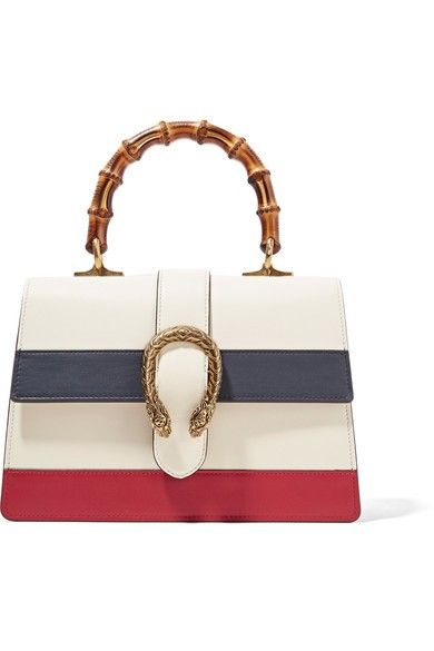 35458a8fff0b Dionysus Bamboo Medium Leather Tote - Ivory in 2019   Holiday Gift Guide   Gucci  tote bag, White leather handbags, Bags