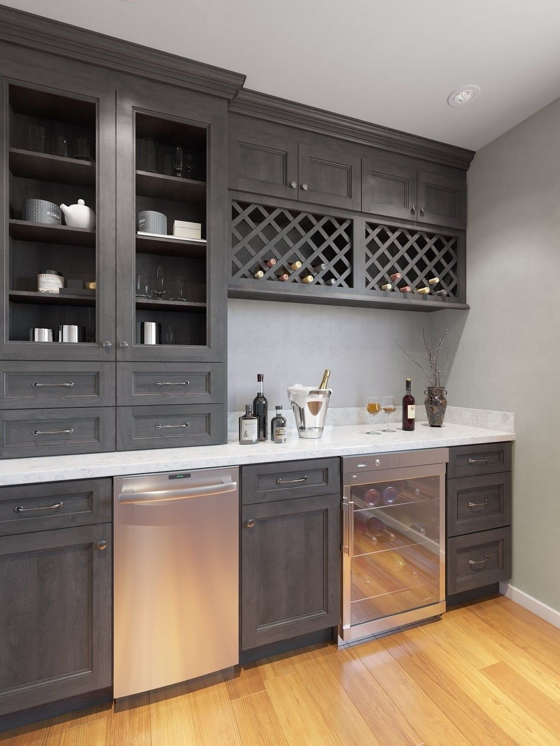 Providence Natural Grey Sample Door In 2020 Built In Bar Cabinet Shaker Style Kitchens Kitchen Wet Bar