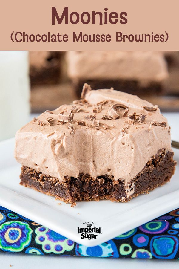 Moonies (Chocolate Mousse Brownies) | Imperial Sugar