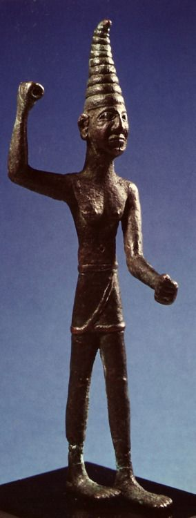 Ancient Peoples Bronze Statue Of The Weather And War God Baal 考古学 古代文明 古代