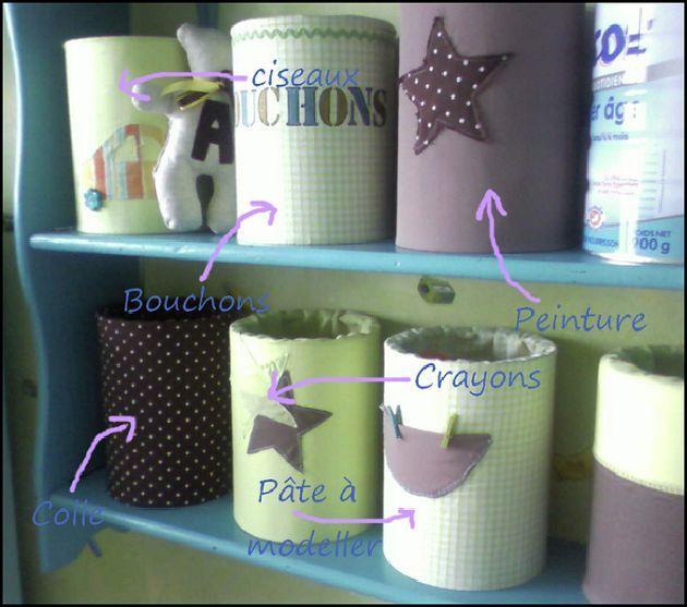 diy que faire des bo tes de lait en poudre vides de b b bo tes de lait pour b b. Black Bedroom Furniture Sets. Home Design Ideas