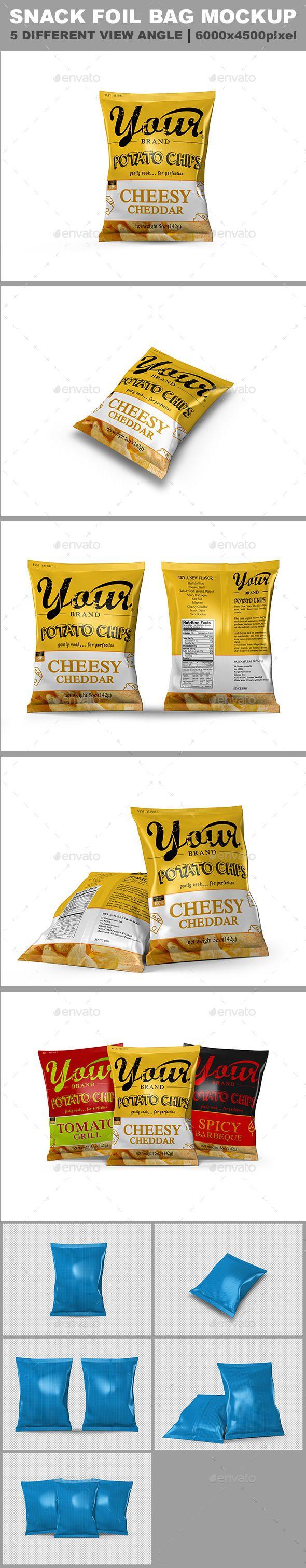 Download 5 Snack Bag Mockup Bag Mockup Snack Bags Snack Box Packaging