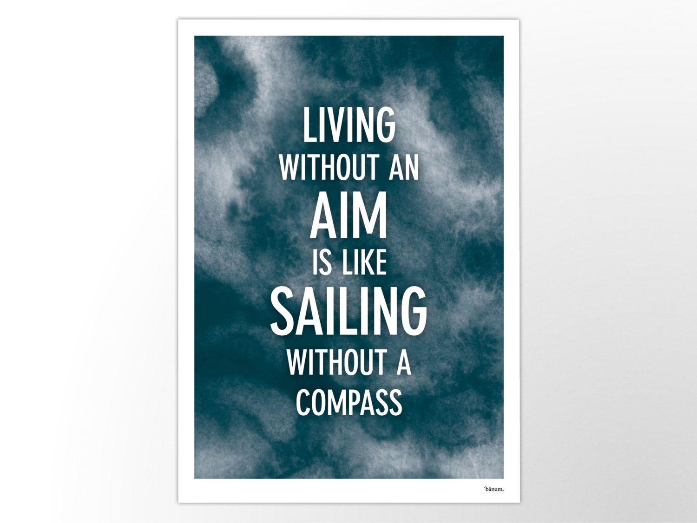 SAILING – moderne Poster, abstrakte Kunstdrucke, zeitgemäße Wall Art Prints, Motivation, weiß, Wasser, See, Meer, Wellen, Compass, Segeln von banum auf Etsy