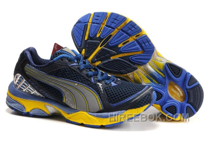 Puma Complete Itana Running Shoes Black/Blue/Yellow shoes online hot sale