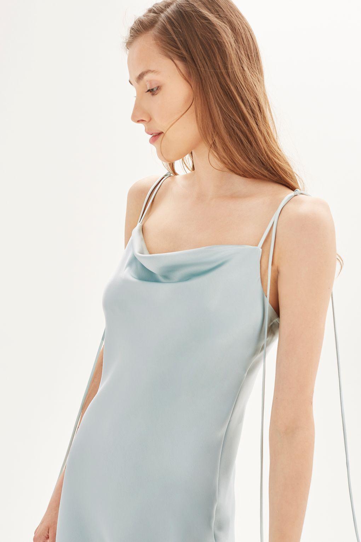 new style brand new fantastic savings Cowl Tie Satin Slip Dress   Satin slip, Slip bridesmaids dresses ...