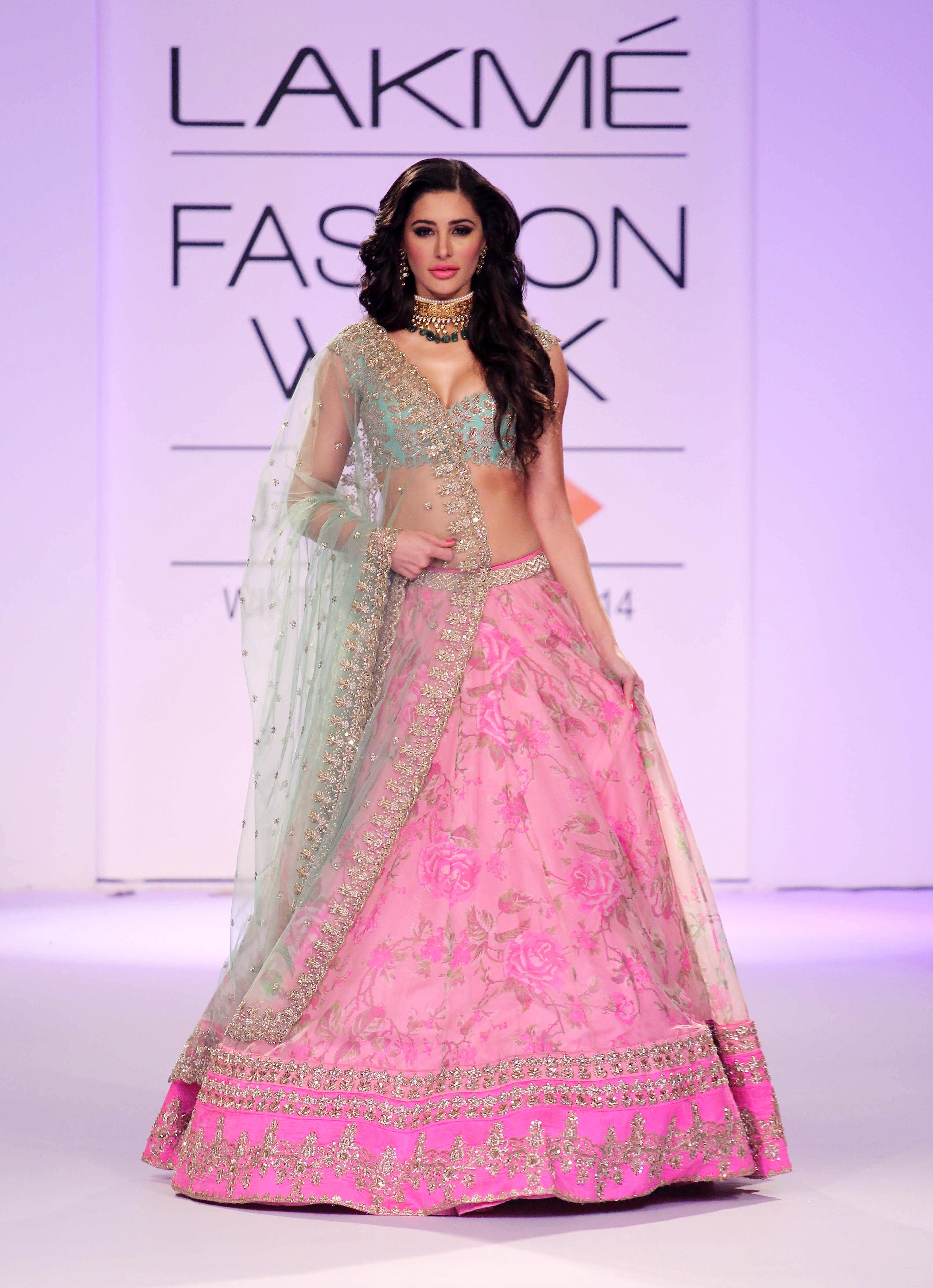 Nargis Fakhri in Anushree Reddy outfit | Indian designer clothing ...