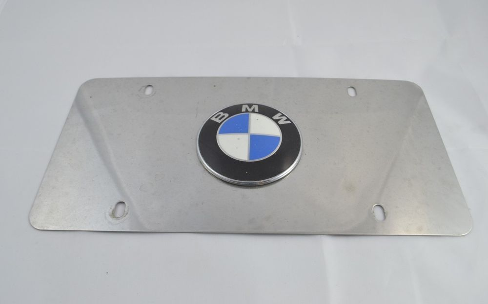 Bmw Logo Marque Polished Stainlesssteel License Plate Heavy