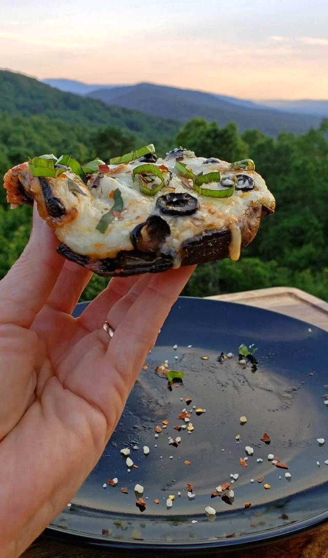 Portobello Mushroom Cap Pizzas {A Meatless Monday