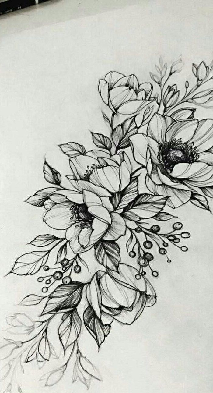 1001 + ideas and tutorials for easy flowers to draw