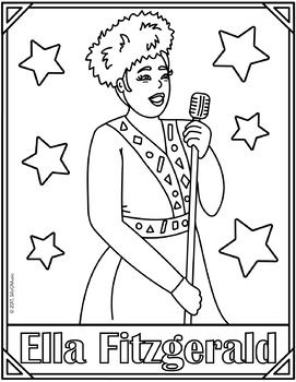 Ella Fitzgerald A Tisket A Tasket Coloring Page Activities