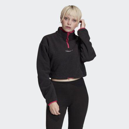 adidas Polar Fleece Crop Top - Black   adidas US #blackcroptops