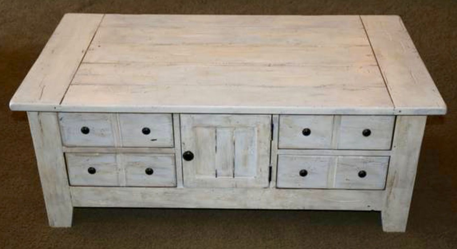 Broyhill Attic Heirlooms Apothecary Coffee Table In Off