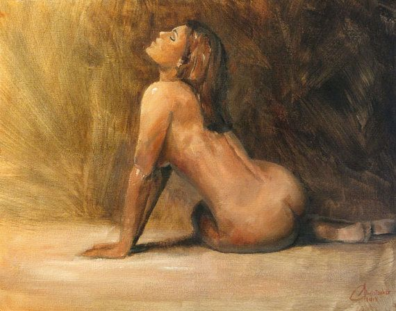 Old masters nude oil painting