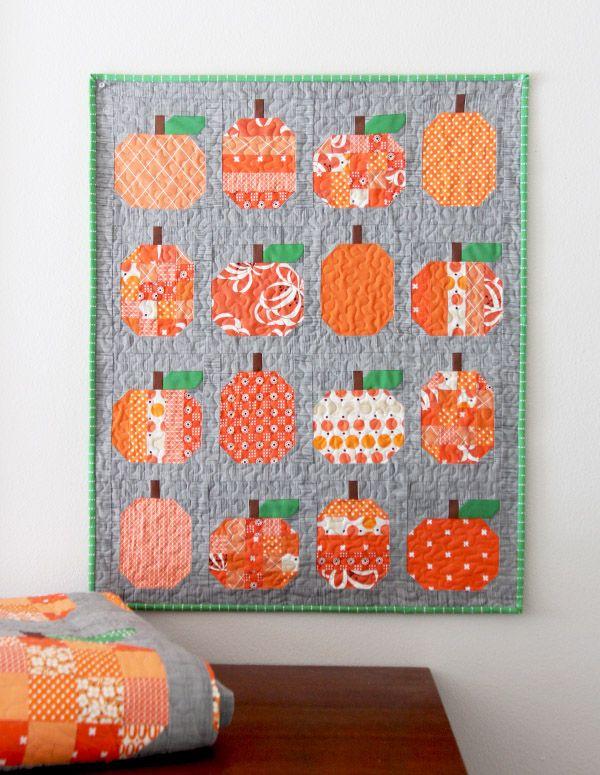 Mini Pumpkins Pumpkin Quilt Pattern Quilts Quilted Wall Hangings