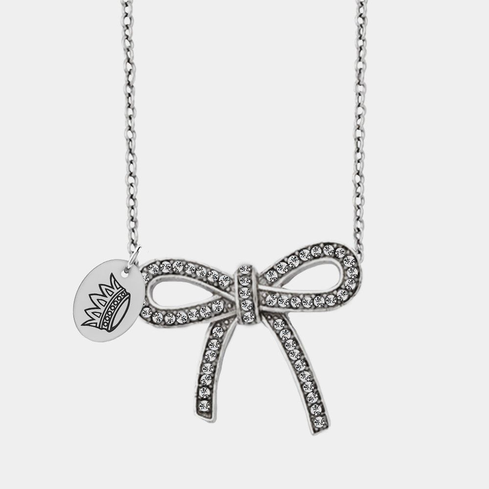 Zeta tau alpha symbol stainless steel and crystal bow necklace bow zeta tau alpha symbol stainless steel and crystal bow necklace biocorpaavc Gallery