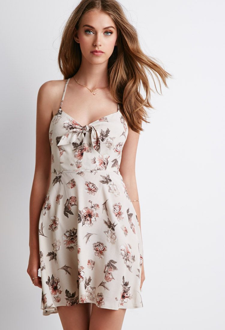 Floral Print Cutout Dress | Forever 21 - 2000053335 | Mom\'s Wedding ...