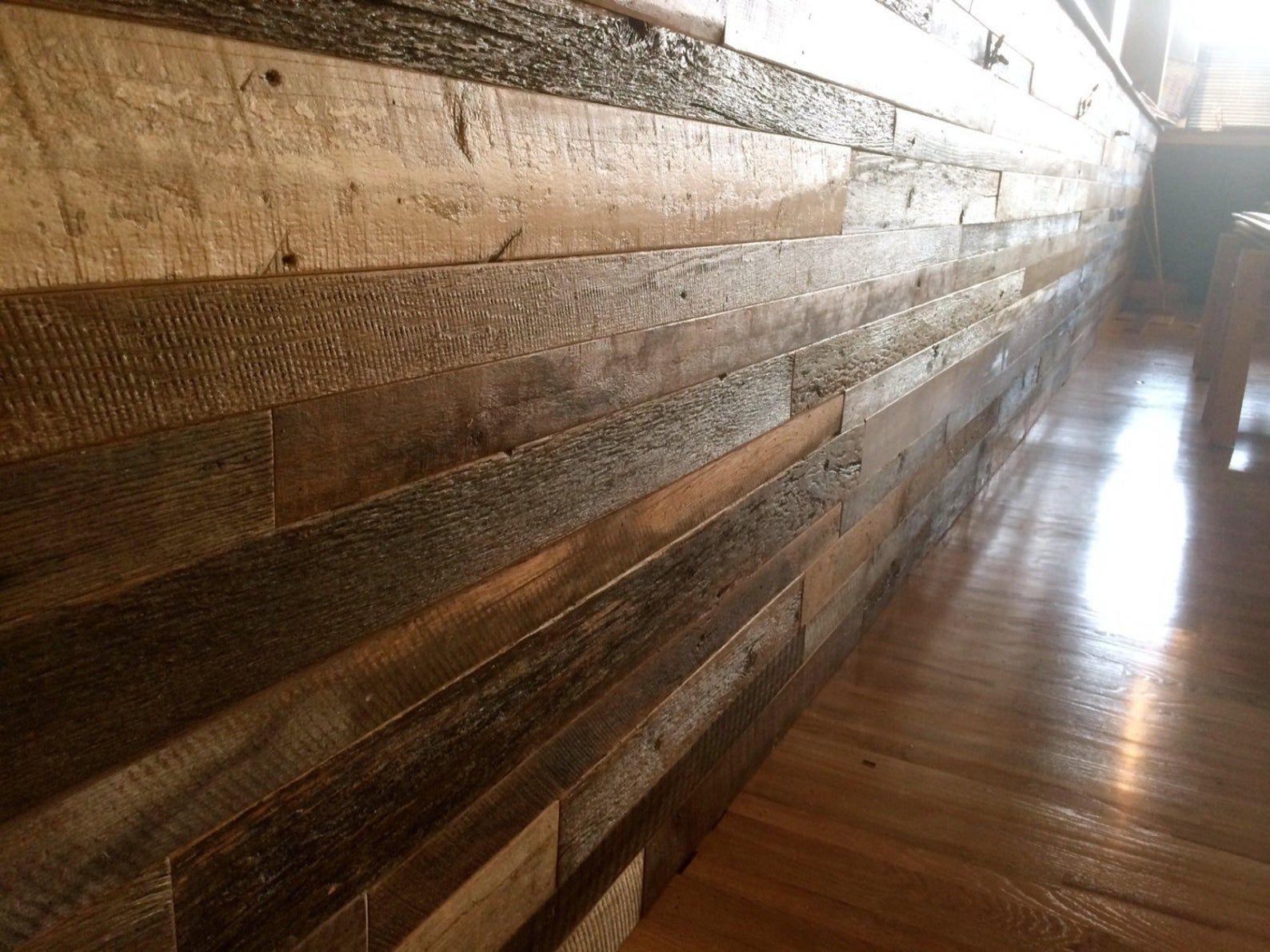 Pre Finished True Reclaimed Barnwood Shiplap 5 8 Etsy Reclaimed Barn Wood Shiplap Paneling Shiplap