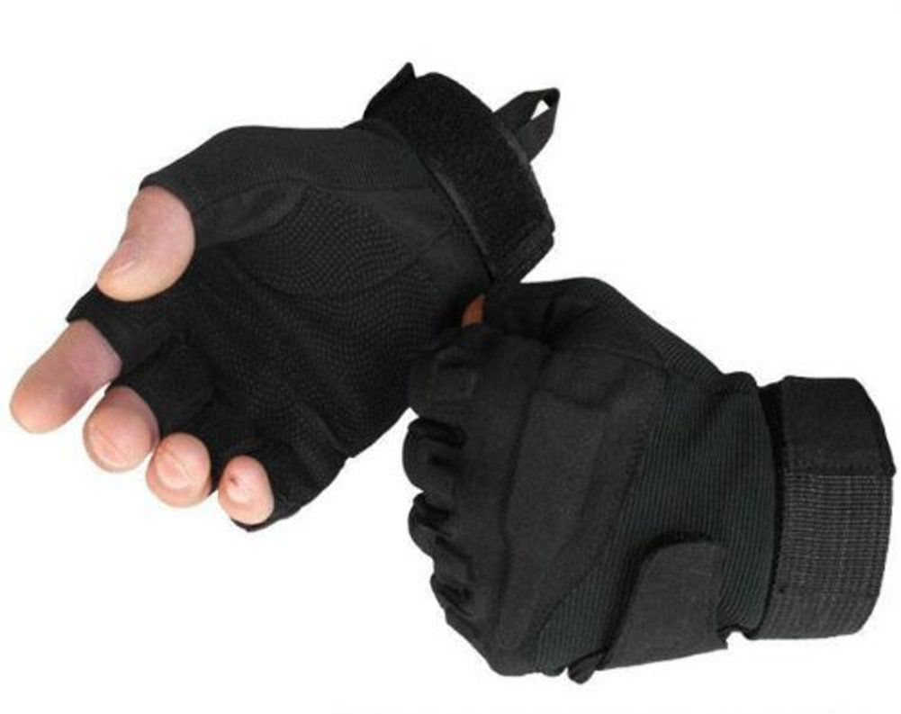 Fingerless gloves amazon - Mondaynoon Military Half Finger Fingerless Tactical Airsoft Hunting Riding Cycling Gloves Outdoor Sports Fingerless Gloves