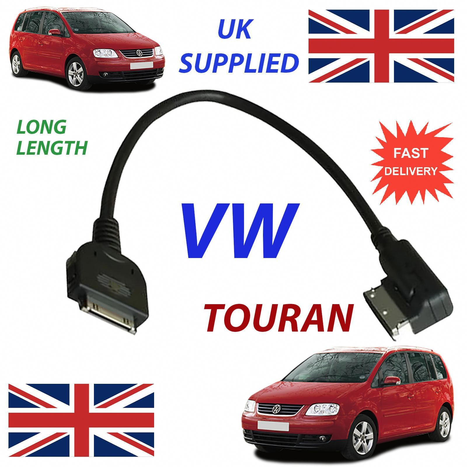 Vw Touran Mdi 0051446L Long Length Iphone Ipod In Car