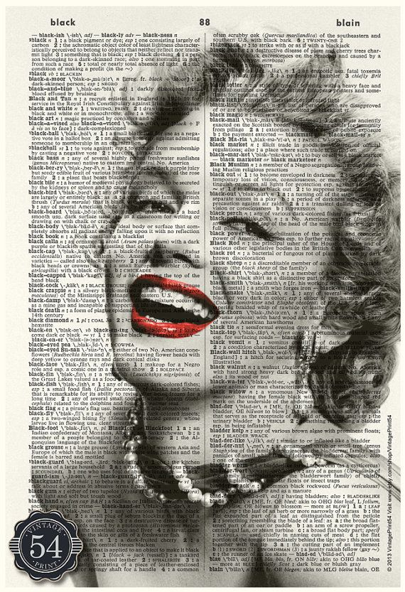 MARILYN MONROE ART DESIGN UPCYCLED VINTAGE DICTIONARY PAGE WALL ART PRINT!
