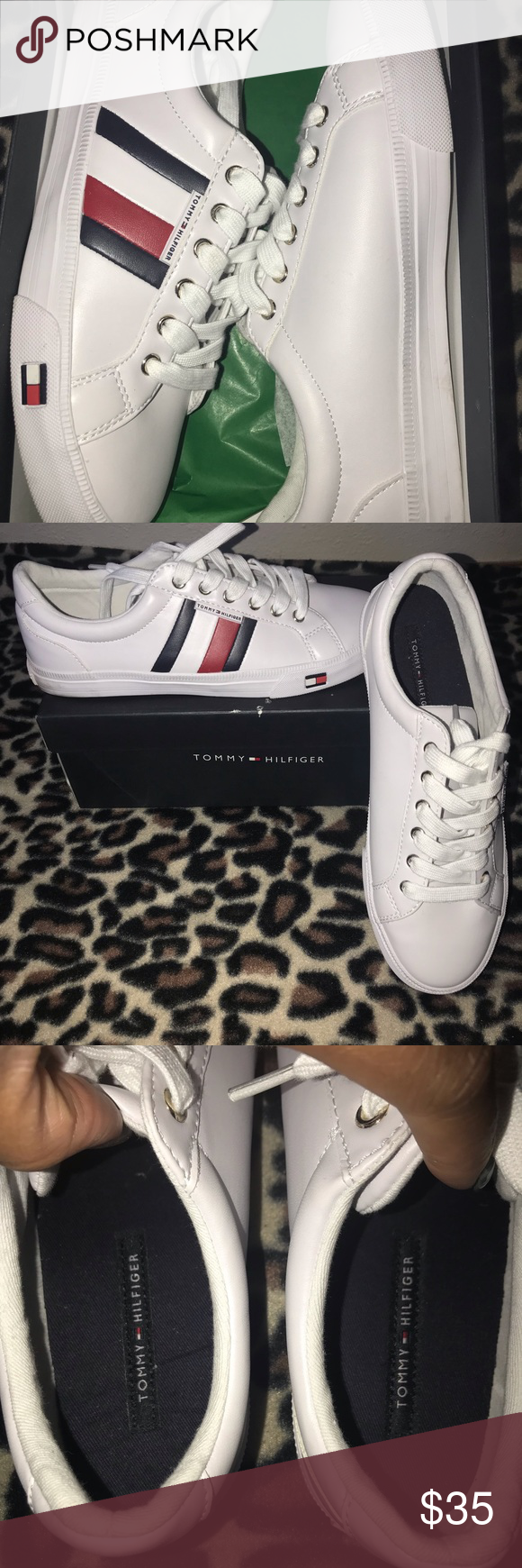 9e62af837e13 Women s Tommy Hilfiger Lightz Sneakers - 8 Used - Only worn 1 time (to a  event) they have been in my closet ever since Women shoes size 8 Faux  Leather ...