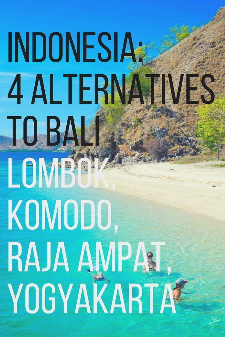 We list our top 4 places to go to in Indonesia other than Bali: Lombok, Yogyakarta, Raja Ampat and Komodo National Park. Read here why you should go, what to see, and how to get there.