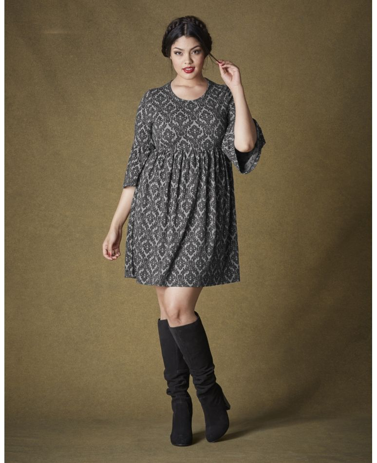 Simply Be Simply Be Baroque Jacquard Babydoll Dress At Simply Be