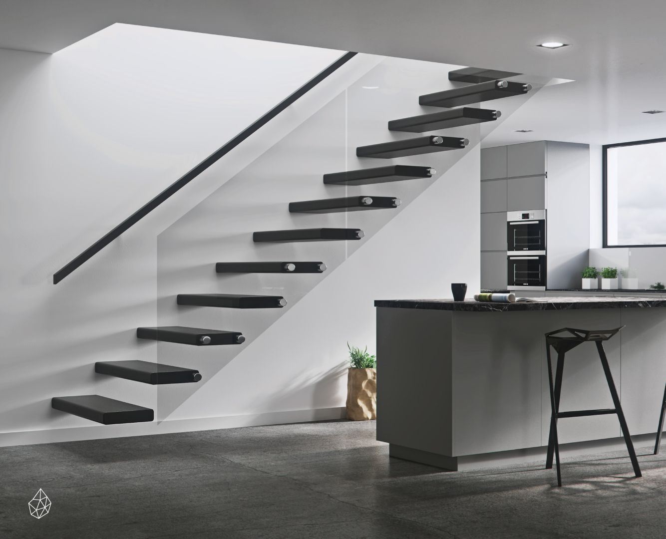 Best Diamond Stairs The Universal Cantilevered Stair Kit 640 x 480
