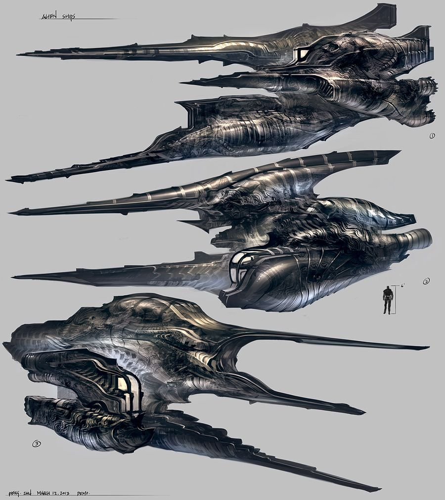 Feng Zhu Design: Alien Ships // Hi Friends, look what I ...