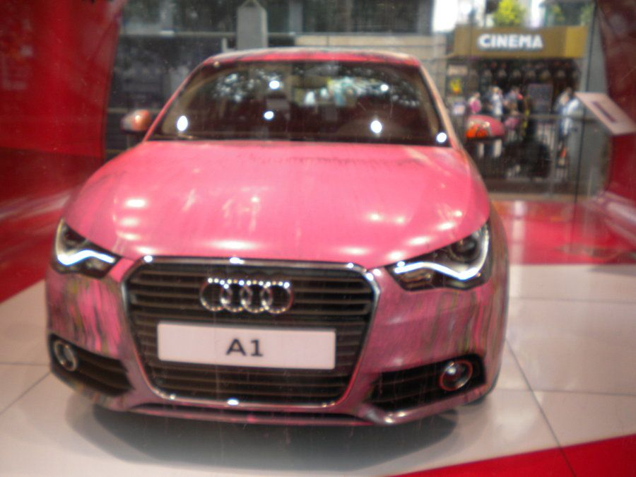 Pink Audi A Leicester Sq By CooroSnowFox On DeviantART Zoom - Audi zoom car