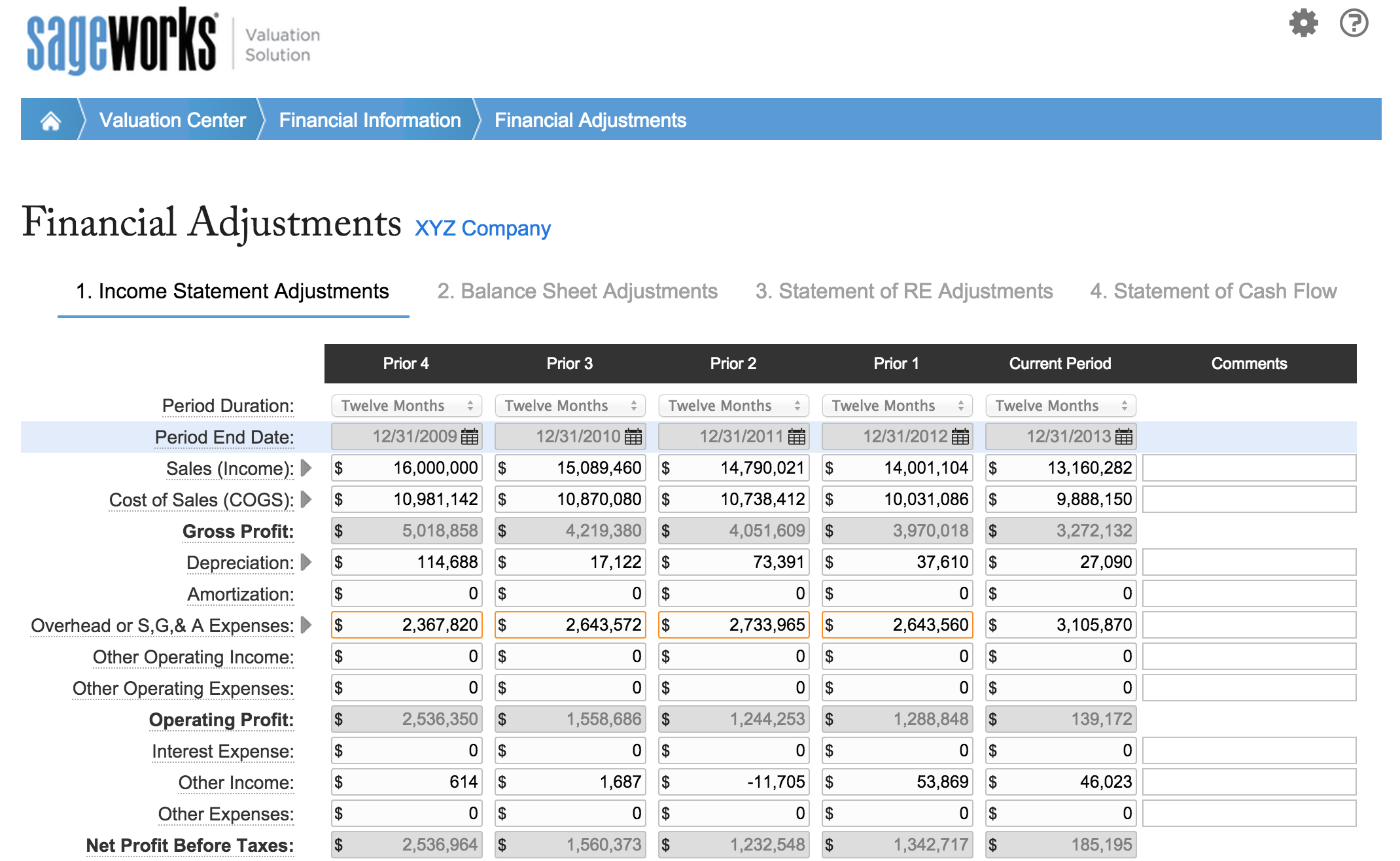 8 Steps To An Accurate Business Valuation Business Valuation Earned Value Management Income Statement