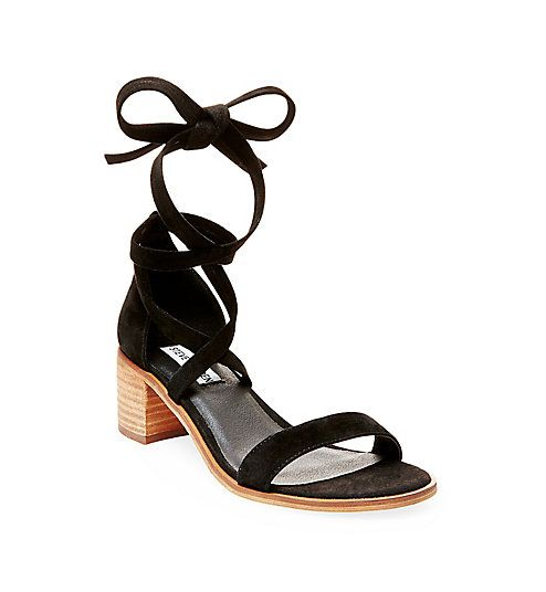 f2a2ce7bb7 Strappy Low Heels in Suede | Steve Madden RIZZAA | W a r d r o b e ...