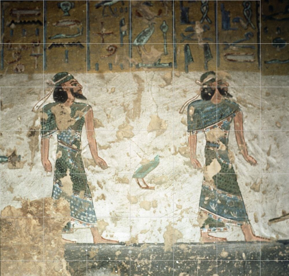 Semitic Peoples From Tomb Of Rameses Iii Ancient Kmt Egypt Part