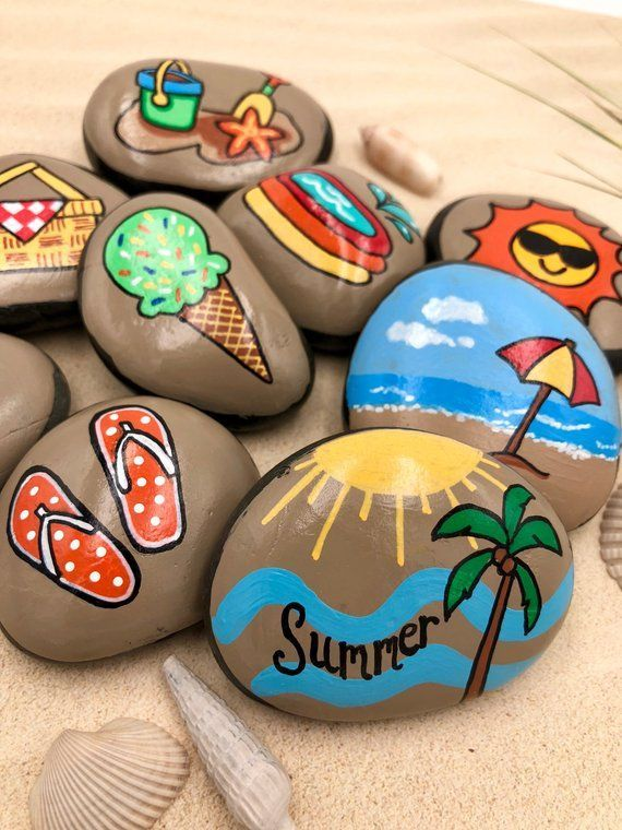 Photo of Summer Story Stones, Summertime Story Starters, Beach Time Painted Rocks, Story Rocks, Summer Story Prompts, Vacation Activity Stones – Bildungsniveau