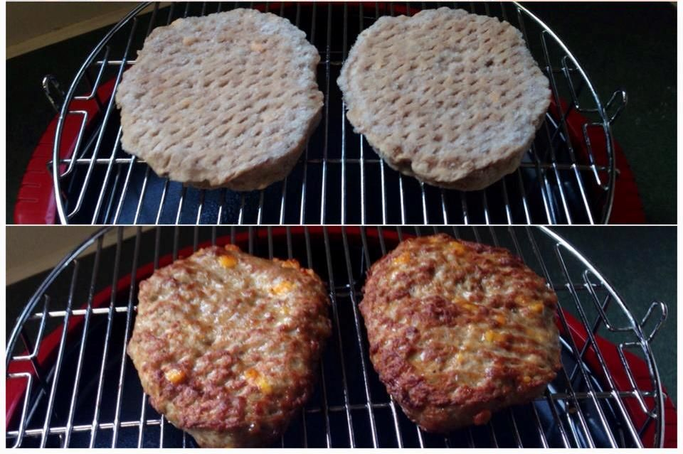 Even packaged frozen burgers turn out extra juicy when
