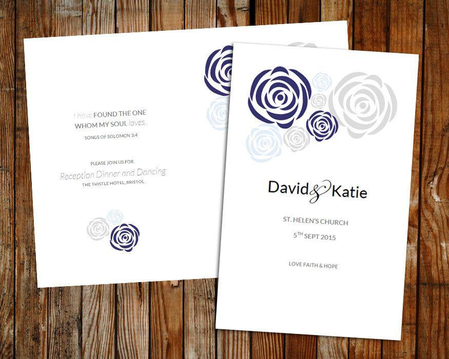 wedding programs microsoft word
