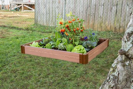 Frame It All Tool Free Classic Sienna Raised Garden Bed Terraced 4